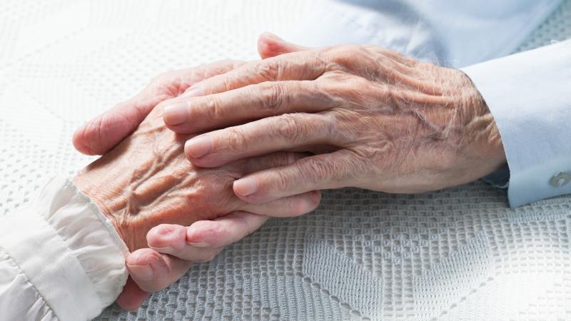 seniors, hands, elderly