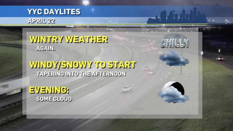 Calgary weather Daylites April 22, 2021