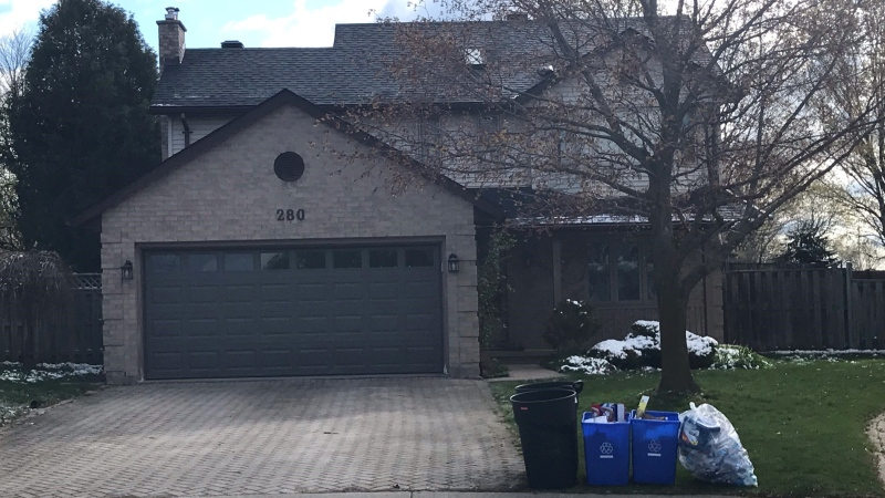 A home on Blue Forest Place was damaged on Thursday, April 22, 2021. (Sean Irvine / CTV London)