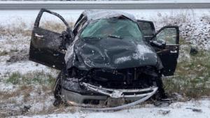 Ottawa paramedics responded to numerous collisions on Ottawa roads Thursday morning. (Photo courtesy: Twitter/OttawaParamedic)