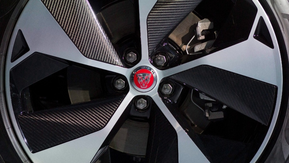 The wheel of a Jaguar I-Pace vehicle