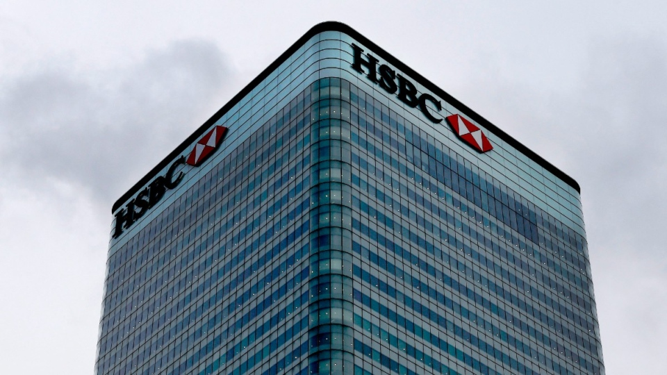 HSBC bank headquarters building in London