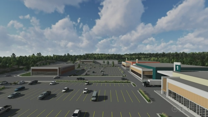 Proposed Sudbury film studio has 3 sound stages. (Freshwater Production Studios)