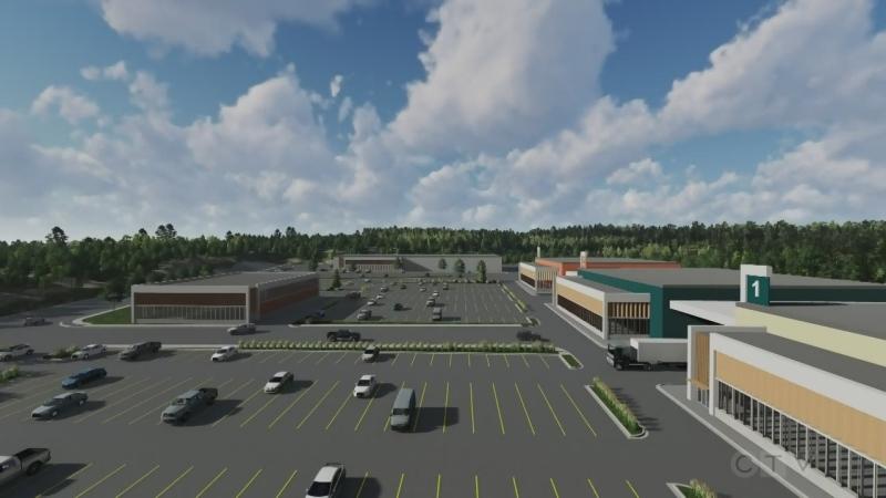 Proposed Sudbury film studio has 3 sound stages. (Freshwater Production Studios)