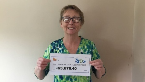Sharon Jungkind, 64, of Collingwood, Ont. won a second prize with Lotto Max in the Nov. 6, 2020, draw. (OLG)