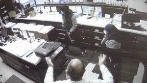 Shocking video shows armed robbery at Edmonton pha