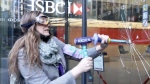 Demonstrators smash windows at HSBC's London HQ