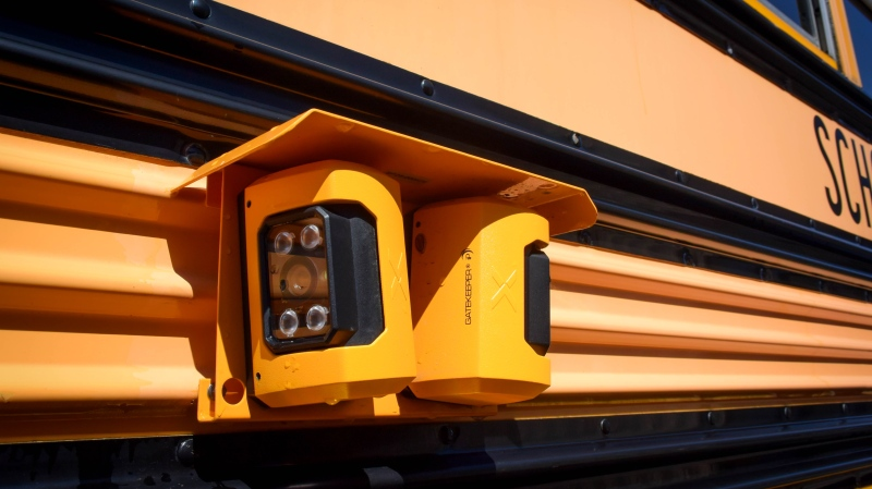 An SD79 school bus camera is shown: (Cowichan Valley School District)