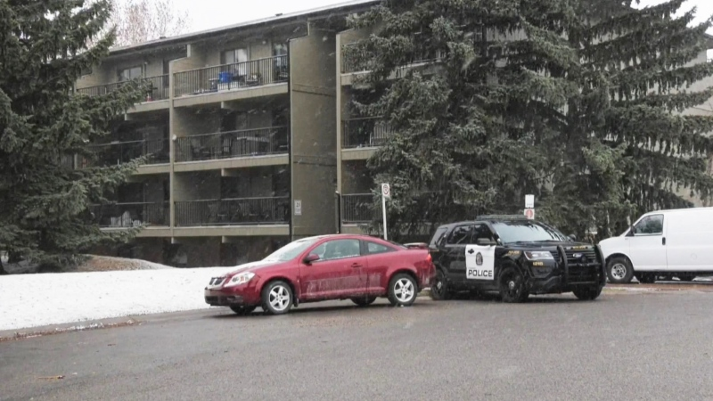 Calgary police responded to an apartment building in the 0-100 block of Glengrove Close S.W. for a firearm complaint.