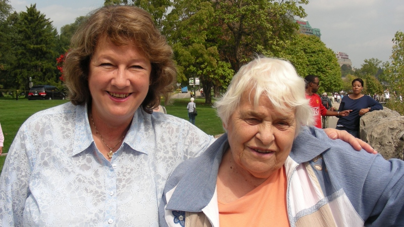 Toronto van attack victim Betty Forsyth (right) is shown in a family handout photo with her cousin Jacqueline Ritchie. THE CANADIAN PRESS/HO