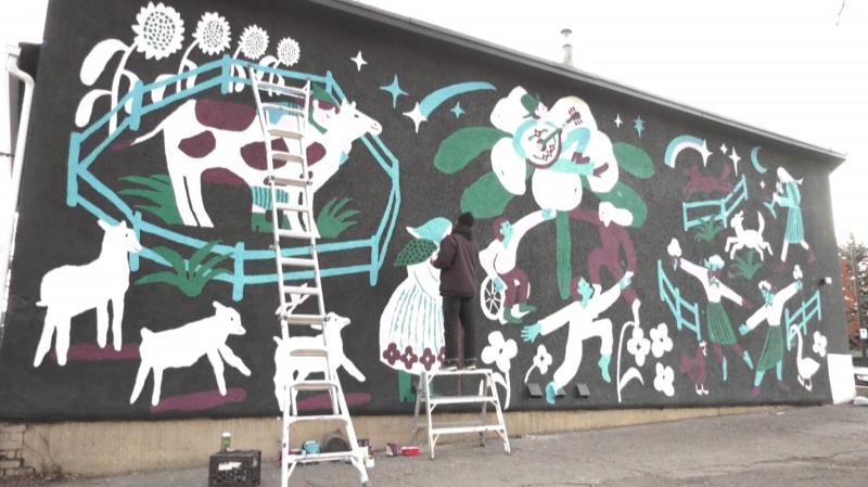 fairytale mural