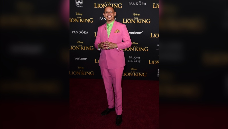 "Eric Andre arrives at the world premiere of ""The Lion King"" in Los Angeles on July 9, 2019. Andre told his 700,000-plus Twitter followers, Wednesday, April 21, 2021, that he believed he had been racially profiled when officers pulled him aside in a terminal at Hartsfield-Jackson Atlanta International Airport and asked to search him for drugs. He says he was the only person of color in line to board at the time. The Clayton County Police Department denies any wrongdoing. (Photo by Jordan Strauss/Invision/AP, File)"