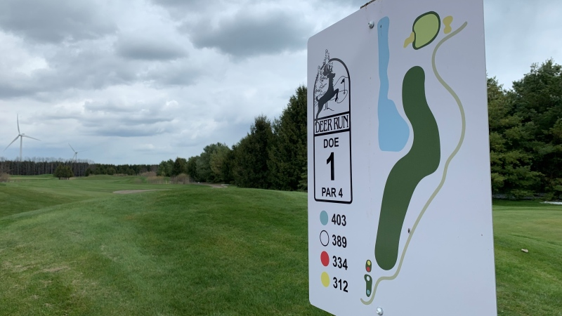 Deer Run Golf Course in Blenheim, Ont., on April 22, 2021. (Rich Garton / CTV Windsor)