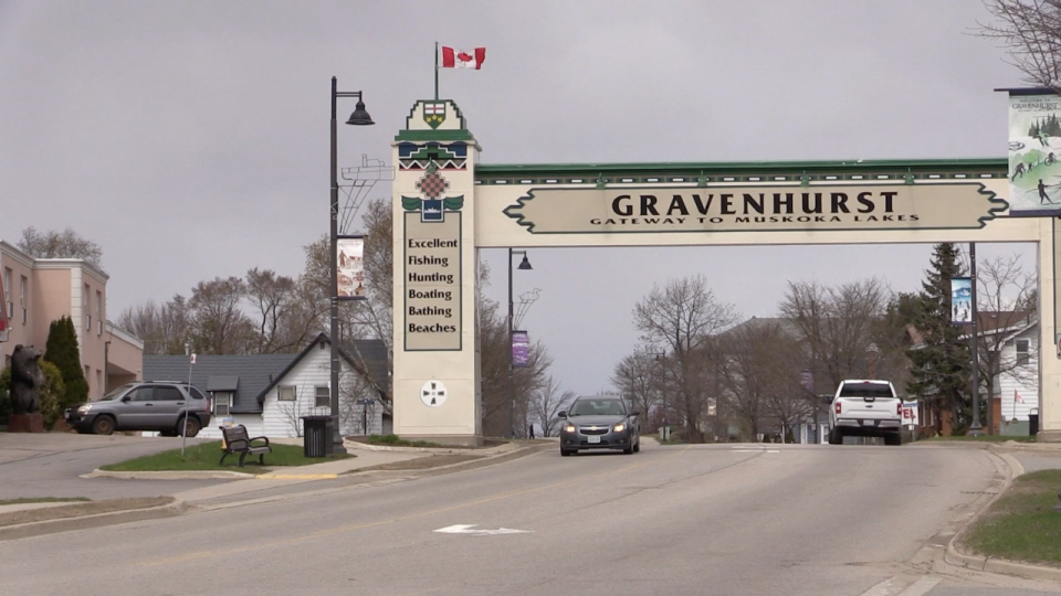 The Town of Gravenhurst in the District of Muskoka. (Mike Arsalides/CTV News)