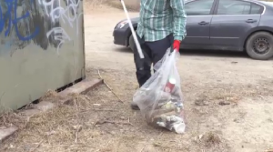 Bill Summers picks up garbage in Guelph