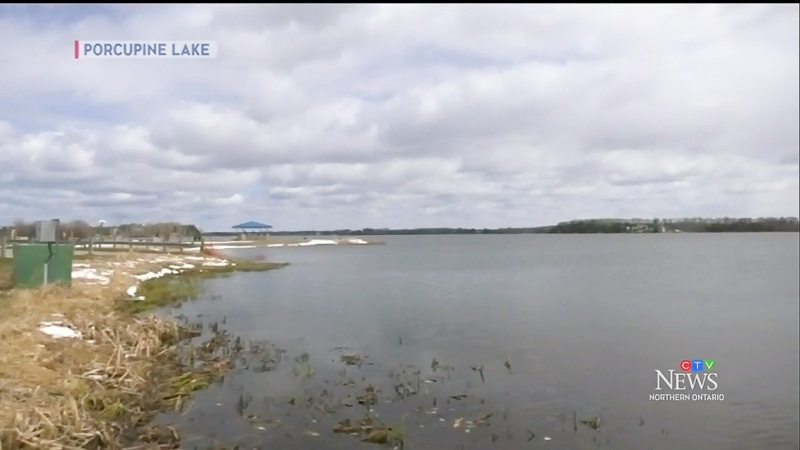 Shocked by last year's study showing toxic metals in fish found in Porcupine Lake, Porcupine native Sherrill Richards wanted a closer look at how the city's notorious sewage dumping is impacting her old neighbourhood.  (Photo from video)