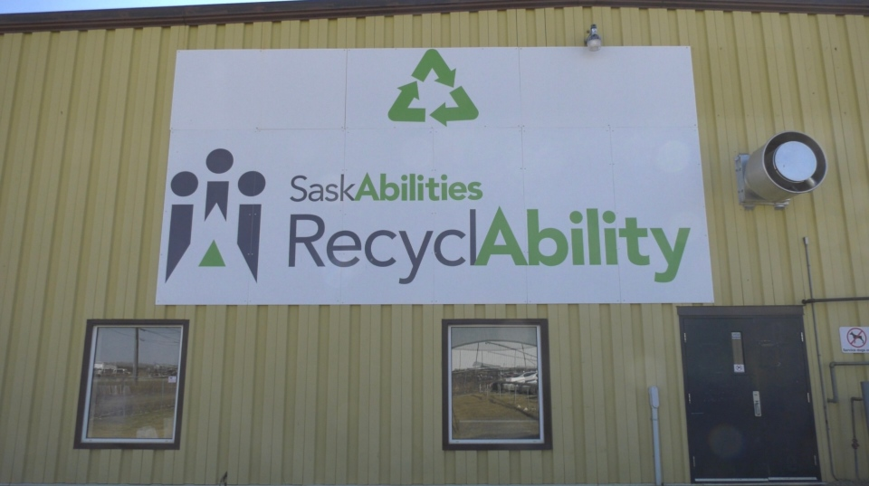 RecyclAbility site on Ball Road in Yorkton (Kaylyn Whibbs/CTV Yorkton)