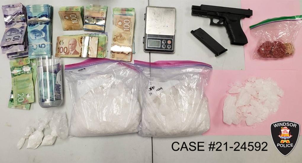 Drugs, cash and a BB gun seized