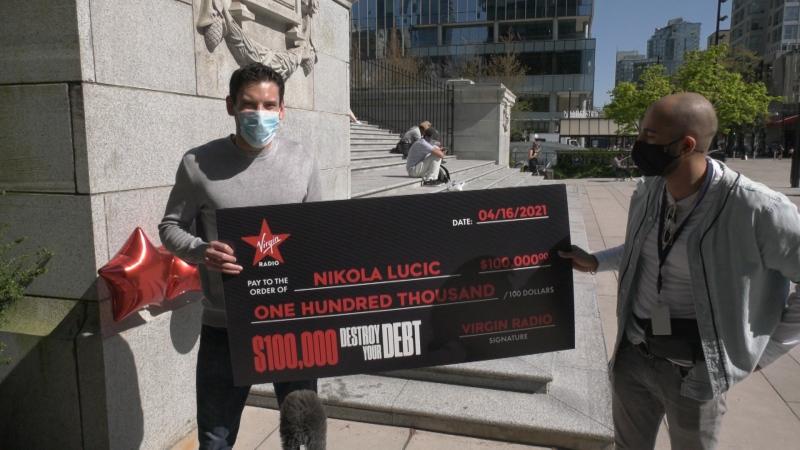 'Destroy Your Debt' winner receives cheque