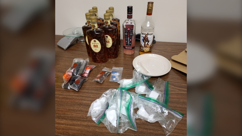 Supplied image of what the officers seized during the traffic stop.