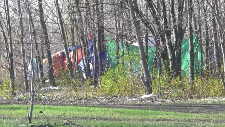 A new homeless encampment has popped up in Montreal.