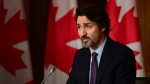 Prime Minister Justin Trudeau holds a press conference in Ottawa on Friday, April 23, 2021, during the COVID-19 pandemic. THE CANADIAN PRESS/Sean Kilpatrick