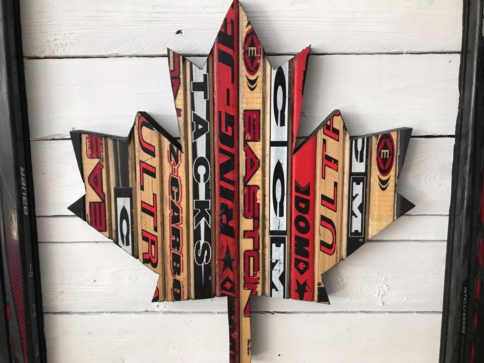Hockey Stick Flag