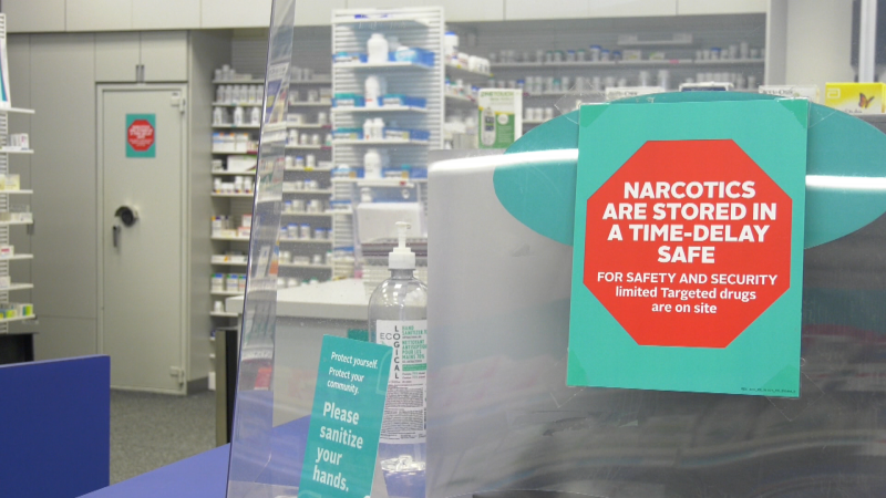 At a majority of Rexall's stores in Edmonton and Calgary – and soon, across all of Alberta – drug safes do not immediately open with an access code. Signs throughout the store inform staff, customers and would-be robbers of the change – and deter thieves from targeting the store, the company hopes.
