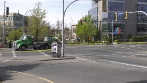 Victoria police are investigating the collision at the intersection of Gorge Road East and Jutland Road. (CTV News)