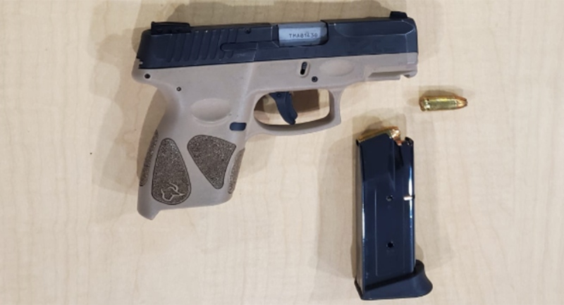 A 9mm handgun seized in London, Ont. on Thursday, April 22, 2021 is seen in this image released by the London Police Service.