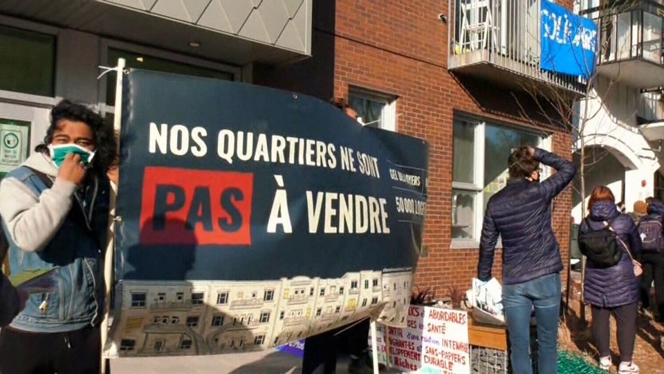 Protest against renovictions