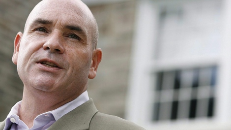 George Smitherman speaks during the annual Canadian Film Centre BBQ in Toronto, Sept. 13, 2009. Ontario deputy premier George Smitherman has resigned from cabinet as he prepares to run for Toronto mayor. (Pawel Dwulit / THE CANADIAN PRESS)