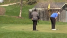 Golfers at The Bridges in Tillsonburg, Ont. on April 24, 2021. (Brent Lale/CTV London)