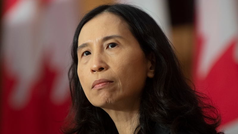 Chief Public Health Officer Theresa Tam listens to a question during a news conference Tuesday January 5, 2021 in Ottawa. THE CANADIAN PRESS/Adrian Wyld