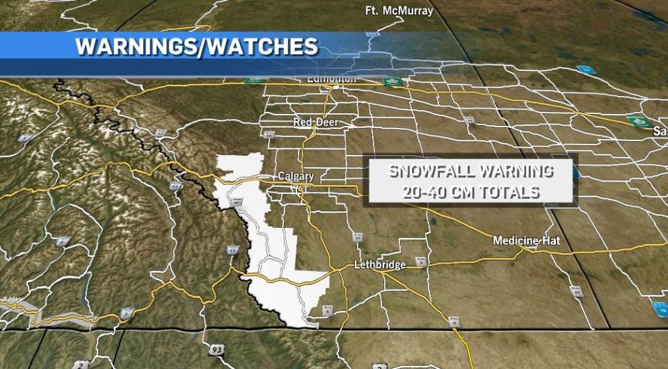Snowfall warning