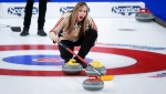 Rachel Homan directs her team in the final at the Scotties Tournament of Hearts in Calgary, Alta., in this file photo from Feb. 28, 2021. THE CANADIAN PRESS/Jeff McIntosh