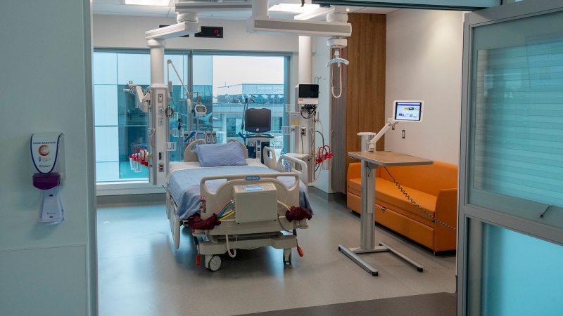 A digital Intensive Care Unit room at Cortellucci Vaughan Hospital in Vaughan, Ont. on Monday, January 18, 2021. THE CANADIAN PRESS/Frank Gunn