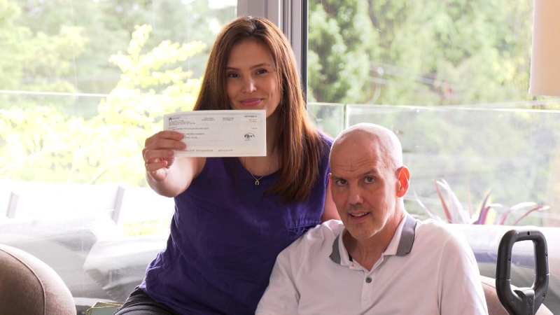 Greg Gowe says if everyone donated five per cent of their ICBC rebate cheque for ALS research, that could raise approximately $30 million.