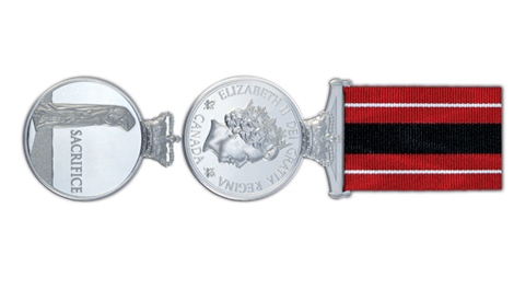 The Sacrifice Medal was created last year to give a form of lasting recognition to soldiers who died in service since Canada's mission in Afghanistan began in October 2001.