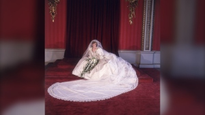 Princess Diana's wedding dress will go on public display at Kensington Palace after her sons, Prince William and Prince Harry, agreed to loan the item. Diana is seen wearing the dress on her wedding day in 1981. (Fox Photos/Hulton Royals Collection/Getty Images)