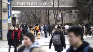 A general view of the Ryerson University campus in Toronto, is seen on January 17, 2019. THE CANADIAN PRESS/Chris Young