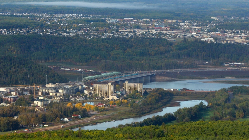 An aerial view of Fort McMurray, Alta., Monday, Sept. 19, 2011. (THE CANADIAN PRESS / Jeff McIntosh)