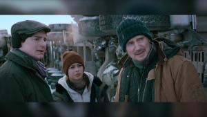 The Ice Road, filmed in Manitoba and starring Liam Neeson, is now streaming on Netflix. (Image source: VVS FILMS)