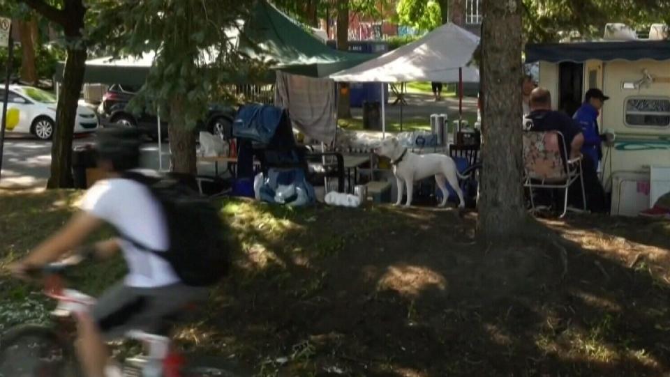 Coderre visits homeless camp