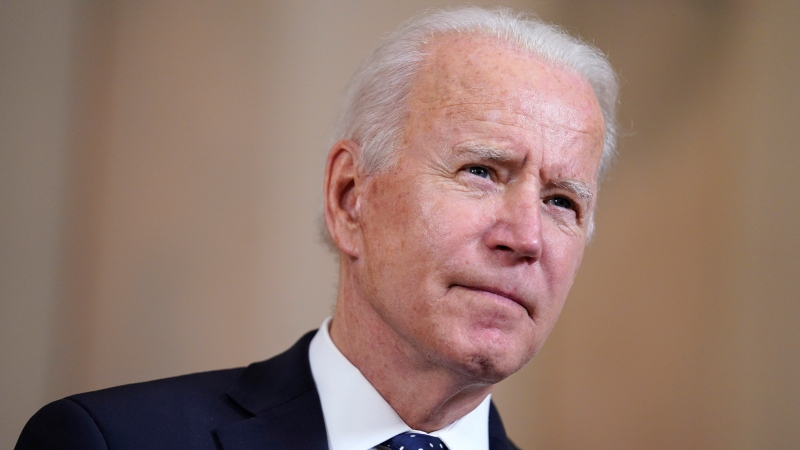 President Joe Biden speaks Tuesday, April 20, 2021, at the White House in Washington, after former Minneapolis police Officer Derek Chauvin was convicted of murder and manslaughter in the death of George Floyd. (AP Photo/Evan Vucci)