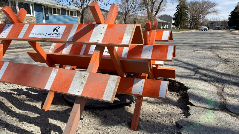 8th Avenue North in Regina was voted the second worst road in the province (Gareth Dillistone/CTV Regina)