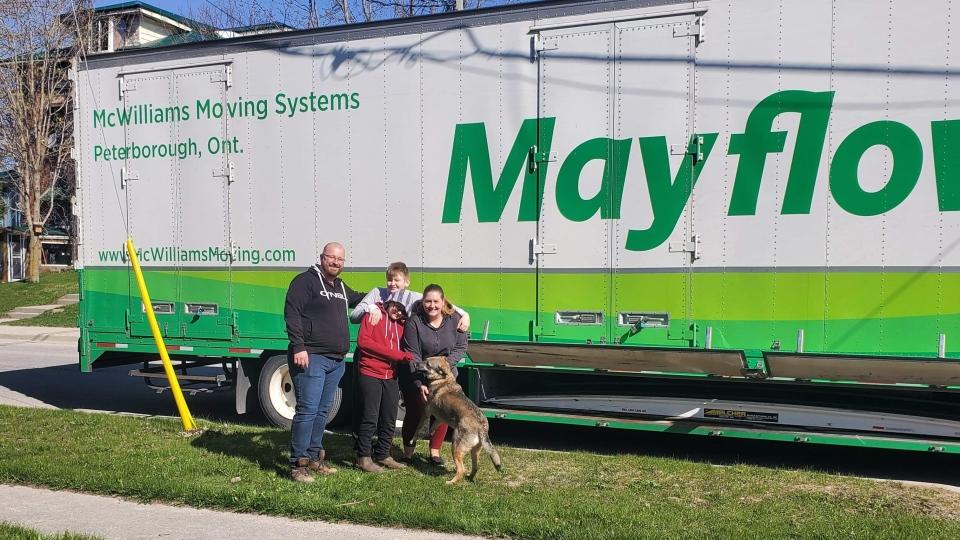 Arthur family moving to New Brunswick