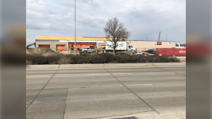Work is currently underway to get a new Amazon warehouse up and running along Regent Avenue West. The warehouse is scheduled to open in September. (Source: Bobbi-Jo Stanley/CTV News)