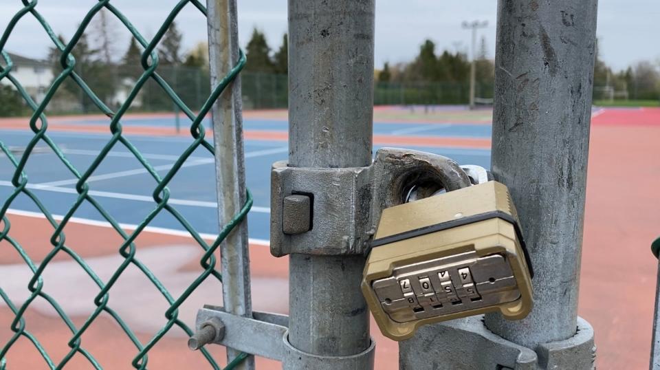 Locked Ottawa tennis court