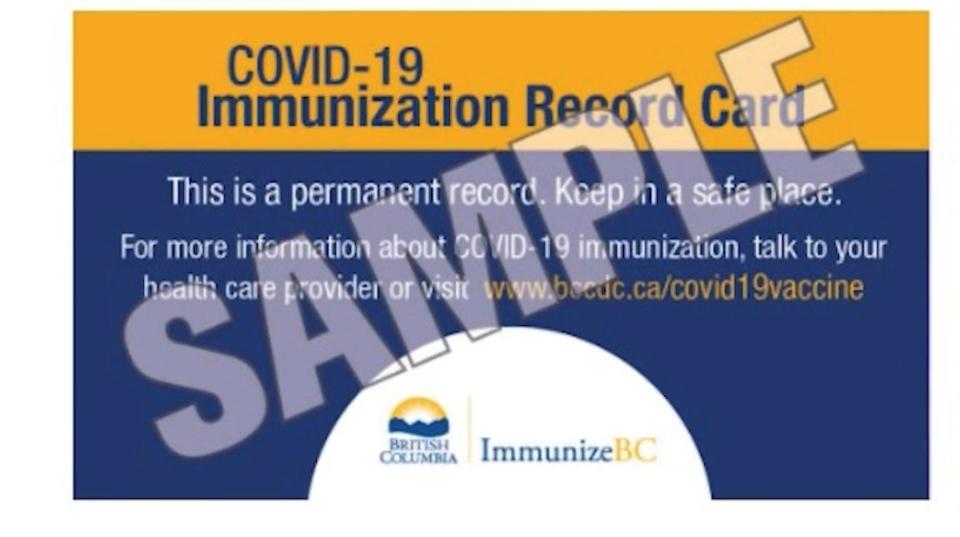COVID-19 vaccine record
